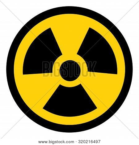 Radiation Traditional Hazard Symbol Sign,vector Illustration, Isolated On White Background Icon. Eps