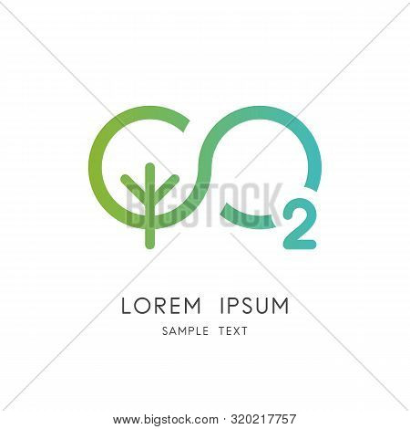 Infinity Nature Logo - Green Tree And Oxygen Symbol. Carbon Dioxide And Photosynthesis Vector Icon.