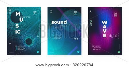 Trance Music Concept. Electronic Festival Background. Futuristic Dj Party. Wave Event. Vibrant Music Poster. Glitch Electronic Motion Background. Dj Flyer. Wave Fluid. Music Abstract. poster