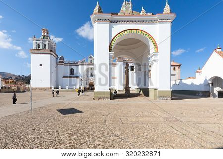 Copacabana Bolivia August 20 Candelaria Basilica Built In 1560 Is The Pride Of The Inhabitants Of Co
