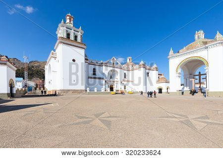 Copacabana Bolivia August 19 Candelaria Basilica Built In 1560 Is The Pride Of The Inhabitants Of Co