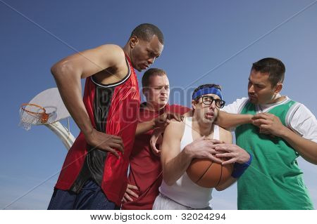 Nerd being harassed on basketball court