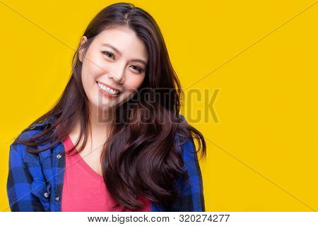 Gorgeous Woman Has Nice Smile. Beautiful Young Asian Woman Has Confident When She Smile Because She