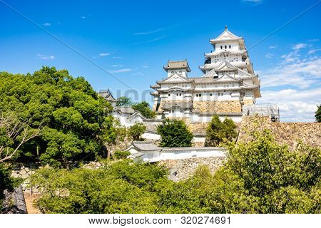 Himeji Castle the Unesco world heritage site in Himeji City Hyogo Japan in Summer