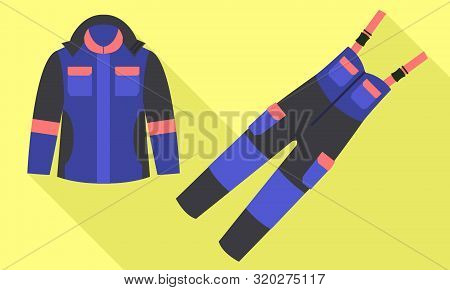 Workwear suit icon. Flat illustration of workwear suit vector icon for web design poster