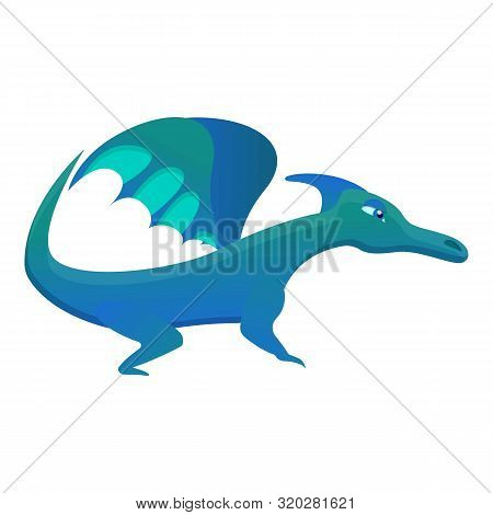 Mythical Dragon Icon. Cartoon Of Mythical Dragon Vector Icon For Web Design Isolated On White Backgr