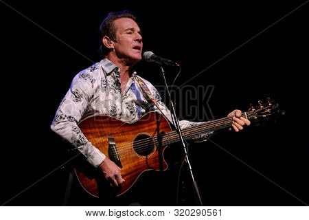 HUNTINGTON, NY - FEB 14: Actor Dennis Quaid performs in concert at the Paramount on February 14, 2019 in Huntington, New York.