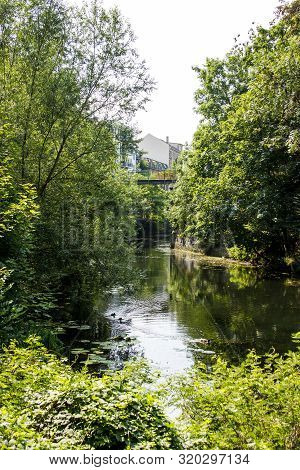 Picture From The Karl Heine Canal In Leipzig Saxony Germany.  This Is A Beautiful Place For Waterspo