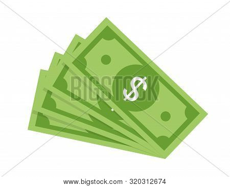 Money Banknotes Banknotes Vector. Bill Money Currency Finance Dollar Illustration. Dollar Concept. M