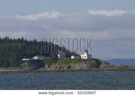 Lighthouse On Rocky Point