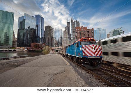 Chicago Metra Train.