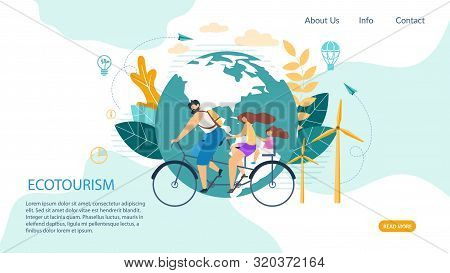 Bright Banner Inscription Ecotourism Cartoon. Traditional Tricks To Improve Situation In Office. Pos