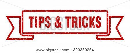Tips And Tricks Grunge Ribbon. Tips And Tricks Sign. Tips And Tricks Banner