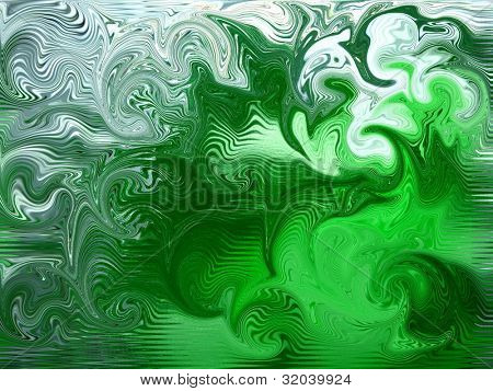 Green and White Swirl Background