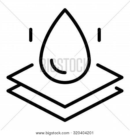 Waterproof Membrane Icon. Outline Waterproof Membrane Vector Icon For Web Design Isolated On White B