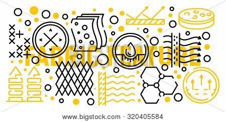 Fabric Membrane Banner. Outline Illustration Of Fabric Membrane Vector Banner For Web Design