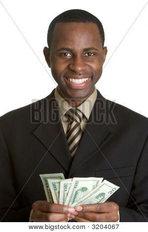 Black Man Holding Money