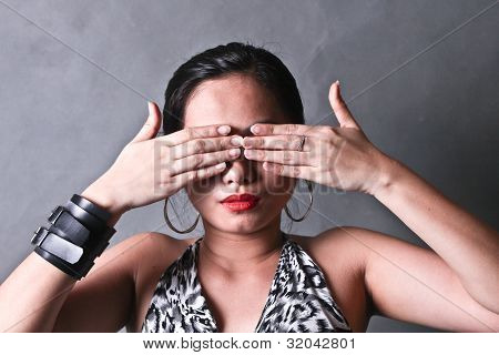 Lady Covering Eyes