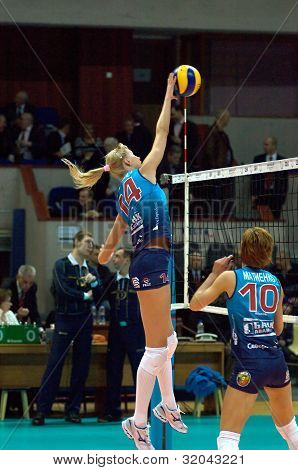 A. Matienko And E. Krivets. Volleybal Team Dynamo(msc)