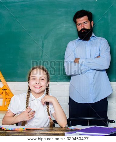 Talented Pedagogue. Homeschooling With Father. Find Buddy To Help You Study. Private Lesson. Pedagog