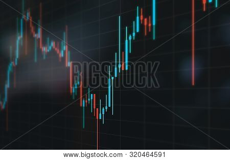 Graphic Of Stock Market Chart On Grey Background