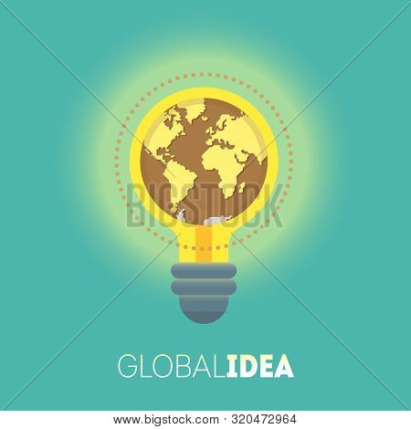 Global Idea. Big Idea. Creative Idea. Conceptual Illustration