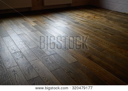 Seamless Oak Parquet Pattern , Natural Flooring Of Rich Brown Color