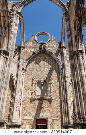 Convent Of Carmo In Lisbon Damaged In The Major Earthquake In 1755