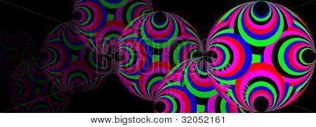 Colourful orb art
