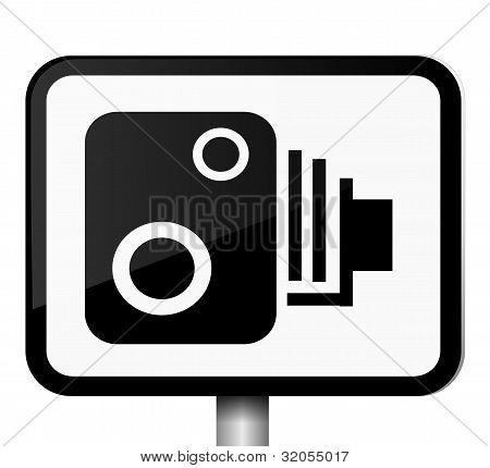 Speed Camera Sign.