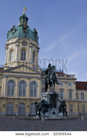 Charlottenburg Palace With The Statue In Front