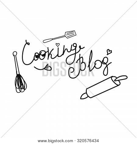 Hand Drawn Cook Blog  Minimal  Design Eps 10 Vector