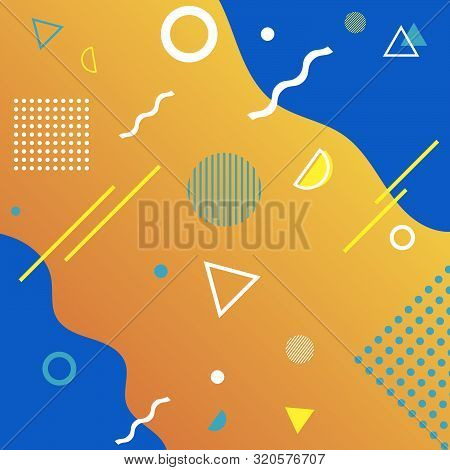 Vector Memphis Geometric Design Of Trendy  80s-90s Style Eps 10 Vector