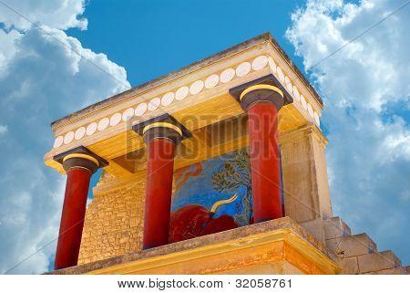 Knossos palace at Crete Greece Knossos Palace