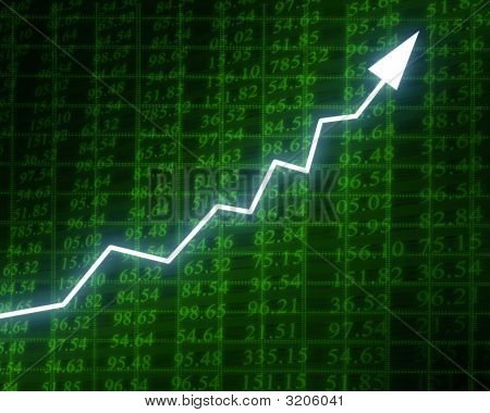 Arrow Graph With Integrated Stock Numbers