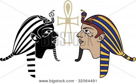 Egyptian pharaon head