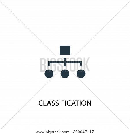 Classification Icon. Simple Element Illustration. Classification Concept Symbol Design. Can Be Used