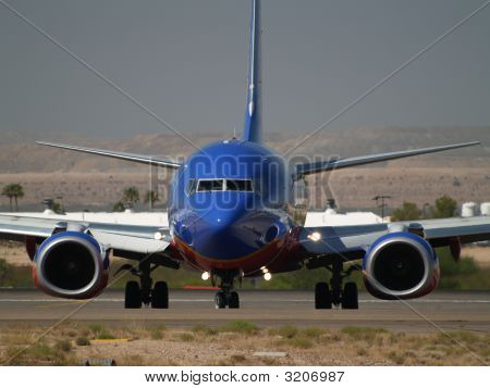 Aircraft Turning Off The Runway In Tucson