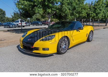 Chevrolet Corvette On Display During Supercar Sunday Event.