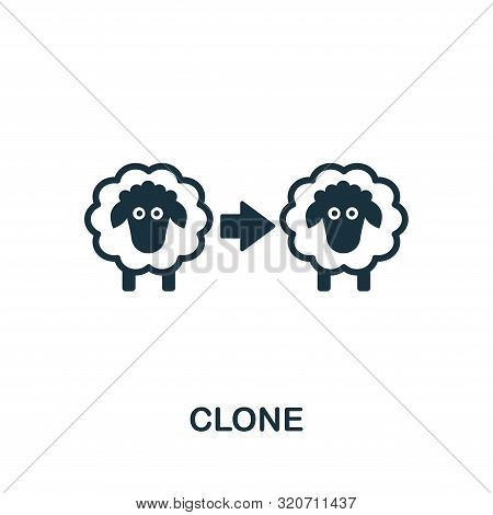 Clone Icon Symbol. Creative Sign From Biotechnology Icons Collection. Filled Flat Clone Icon For Com