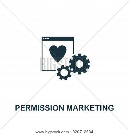 Permission Marketing Icon. Creative Element Design From Content Icons Collection. Pixel Perfect Perm