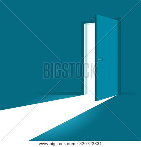 Open Door. Symbol Of New Career, Opportunities, Business Ventures And Initiative. Business Concept.