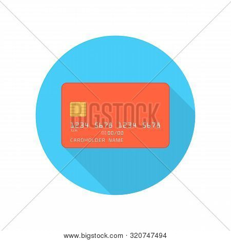 Credit Card Icon In Flat Style. Plastic Bank Credit Or Debit Card Sign Isolated On White Background.