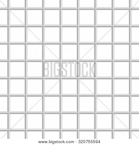 Seamless Chain Link Fence Background. Fences Made Of Metal Wire Mesh On White Background. Wired Fenc