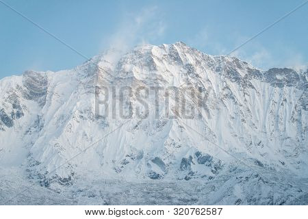 The Scenery View Of Annapurna I South Face (8,091 Metres) Is A Mountain In The Annapurna Himal Range