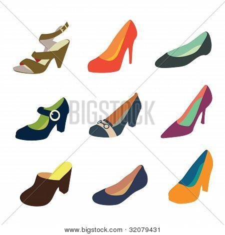 Women shoes silhouettes