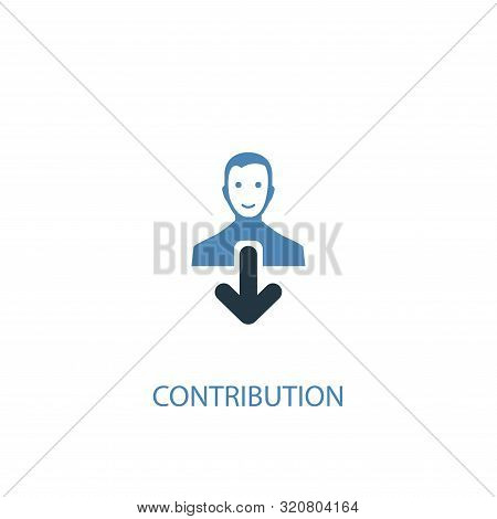 Contribution Concept 2 Colored Icon. Simple Blue Element Illustration. Contribution Concept Symbol D
