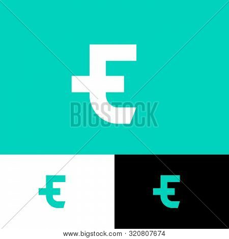 T, E Logo. T And E Monogram Consist Of Two Letters. Original Symbol On Different Backgrounds. Web, U