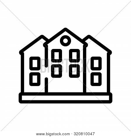 duplex icon from real estate collection on white background