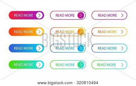 Set Of Modern Action Button For Web, Mobile App.template Gradient Navigation Button Menu For Submit,